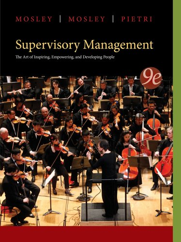 Supervisory Management:   2014 9781285063003 Front Cover
