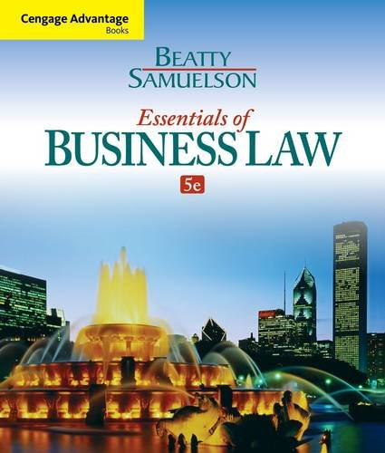Essential Business Law:   2014 edition cover