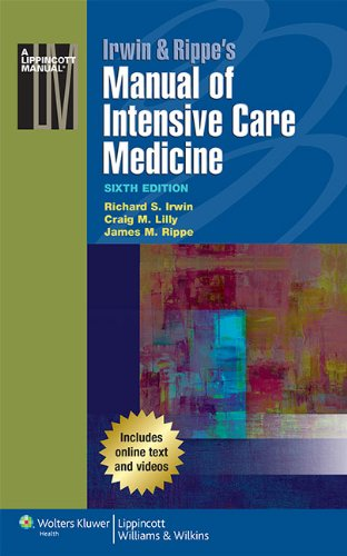 Irwin and Rippe's Manual of Intensive Care Medicine  6th 2014 (Revised) edition cover