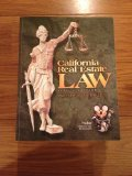 CALIFORNIA REAL ESTATE LAW     N/A edition cover
