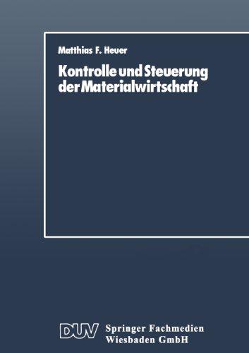 Kontrolle und Steuerung der Materialwirtschaft   1988 9783824400003 Front Cover