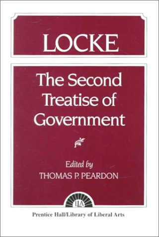 Locke The Second Treatise of Government Locke  1952 edition cover