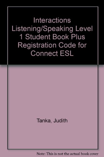 Interactions Listening/Speaking Level 1 Student Book Plus Registration Code for Connect ESL  6th edition cover