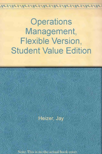 Operations Management, Flexible Version, Student Value Edition  10th 2012 9780132776004 Front Cover