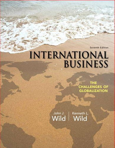 International Business The Challenges of Globalization 7th 2014 edition cover