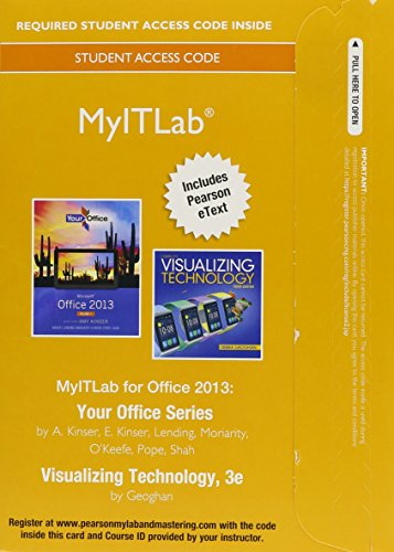 MyITLab with Pearson EText -- Access Card -- for Your Office with Visualizing Technology  3rd 2015 9780133881004 Front Cover