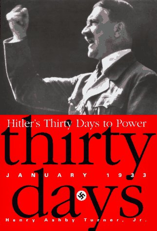Hitler's Thirty Days to Power January 1933  1996 edition cover