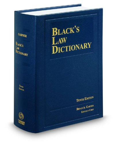 Black's Law Dictionary: Standard Edition  2014 edition cover
