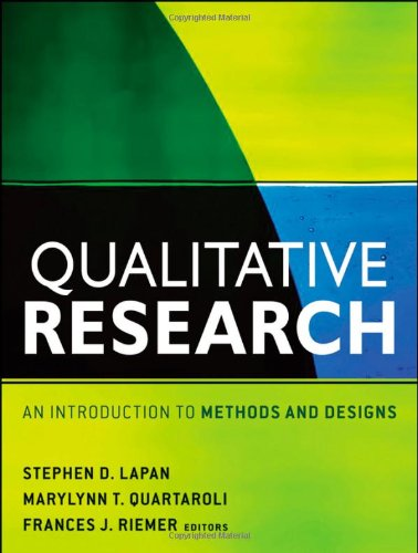 Qualitative Research An Introduction to Methods and Designs  2012 edition cover