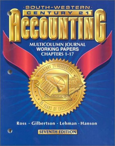 Accounting Multicolumn Journal Approach  7th 2000 9780538677004 Front Cover
