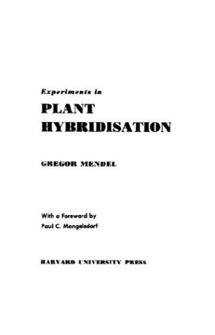 Experiments in Plant Hybridisation   1965 edition cover