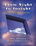 From Sight to Insight The Writing Process 7th 2003 (Revised) edition cover