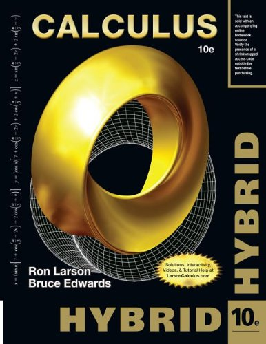 Calculus, Hybrid (with Enhanced WebAssign Homework and EBook LOE Printed Access Card for Multi Term Math and Science)  10th 2014 edition cover