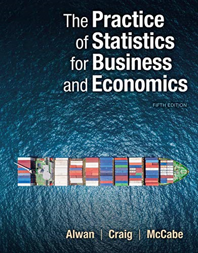 Cover art for The Practice of Statistics for Business and Economics, 5th Edition