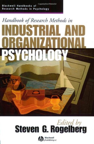 Handbook of Research Methods in Industrial and Organizational Psychology   2004 edition cover