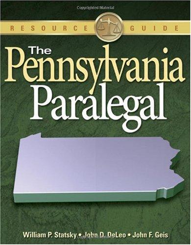 Pennsylvania Paralegal   2010 edition cover