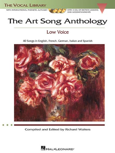 Art Song Anthology - Low Voice 40 Songs in English, French, Germany, Italian and Spanish N/A edition cover