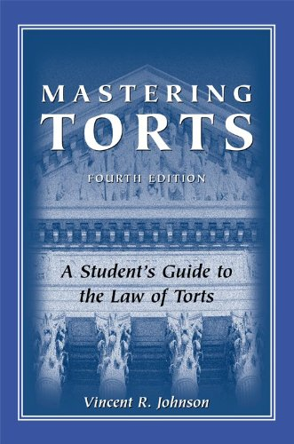 Mastering Torts 4th 2009 edition cover