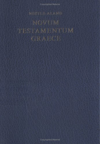 Novum Testamentum Graece. Taschenausgabe  N/A edition cover