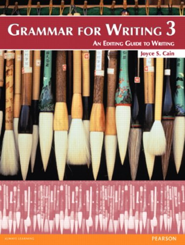 Grammar for Writing An Editing Guide to Writing 2nd 2012 (Student Manual, Study Guide, etc.) 9780132089005 Front Cover