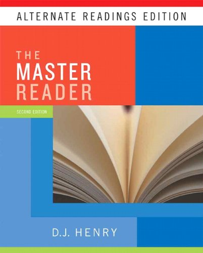 Master Reader, the, Alternate Reading Edition (with MyReadingLab Student Access Code Card)  2nd 2010 9780205745005 Front Cover