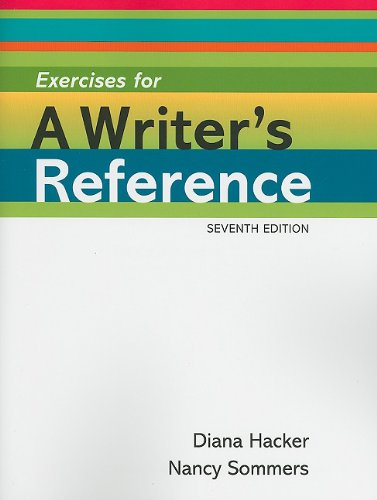 Exercises for a Writer's Reference Large Format  7th edition cover