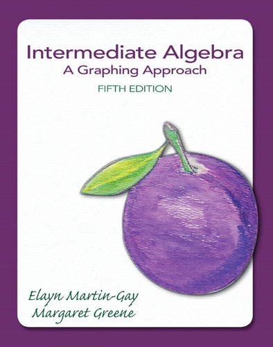 Intermediate Algebra A Graphing Approach 5th 2014 edition cover