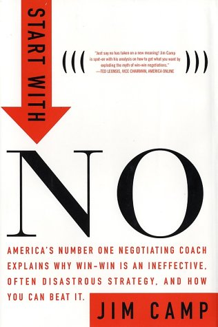 Start with No The Negotiating Tools That the Pros Don't Want You to Know  2002 edition cover
