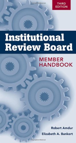 Institutional Review Board  3rd 2011 (Revised) 9780763780005 Front Cover