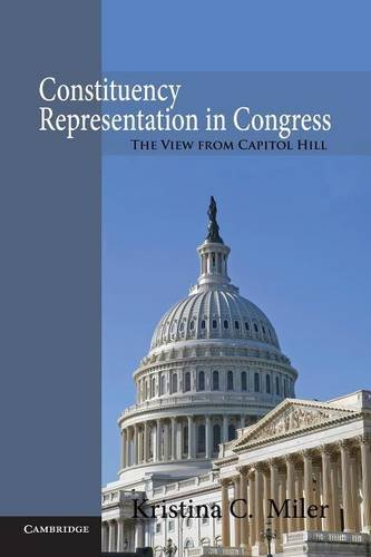 Constituency Representation in Congress The View from Capitol Hill  2014 9781107677005 Front Cover