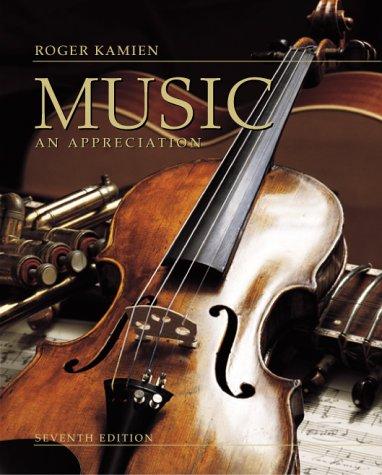Music An Appreciation 7th 2000 edition cover