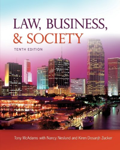 Law, Business and Society  10th 2012 edition cover