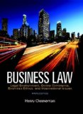 Business Law Legal Environment, Online Commerce, Business Ethics, and International Issues 9th 2016 9780134004006 Front Cover