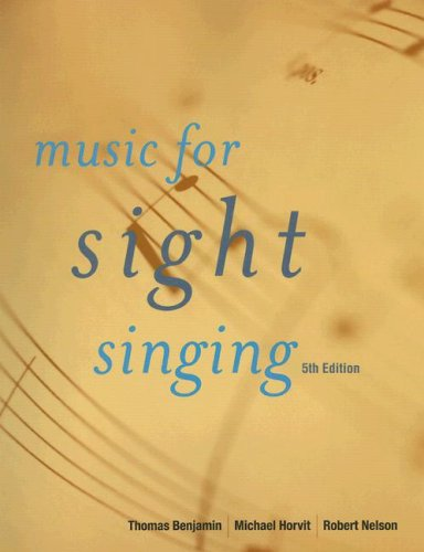 Music for Sight Singing  5th 2009 (Revised) 9780495505006 Front Cover