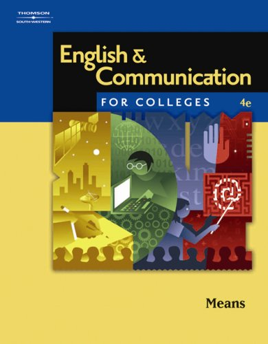 English and Communication for Colleges  4th 2007 (Revised) edition cover