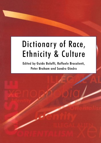 Dictionary of Race, Ethnicity and Culture   2002 9780761969006 Front Cover