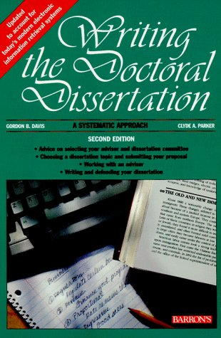 Writing the Doctoral Dissertation  2nd 1997 (Revised) edition cover