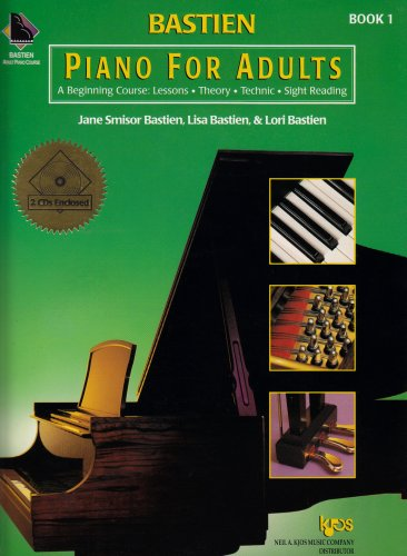 Piano for Adults - a Beginning Course Book 1 + 2 Cd's: Lessons, Theory, Technique, and Sight Reading 1st 1999 edition cover