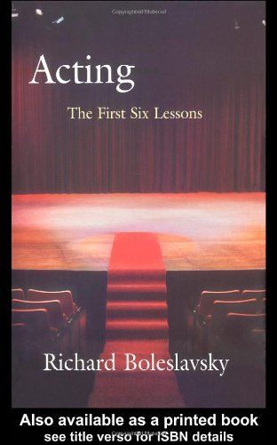 Acting The First Six Lessons  1987 9780878300006 Front Cover
