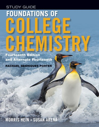 Foundations of College Chemistry  14th 2013 edition cover
