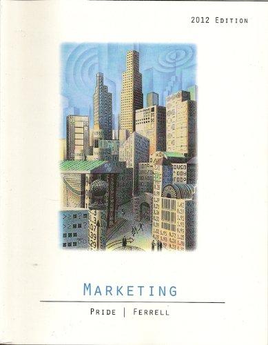 MARKETING 2012 ED. >CUSTOM<    N/A edition cover