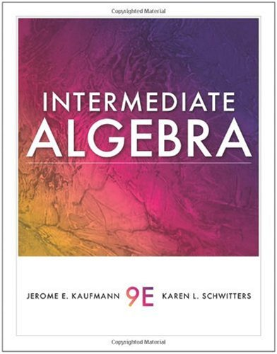 Intermediate Algebra  9th 2011 edition cover