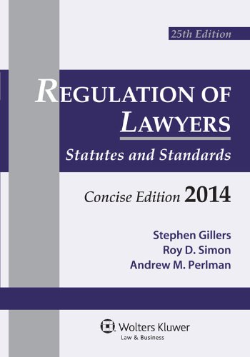 Regulation of Lawyers: Concise 2014  2013 edition cover