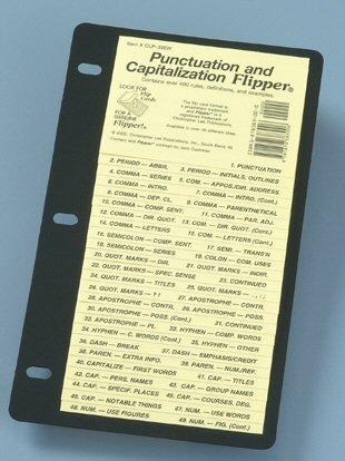 Punctuation and Capitalization Flipper  Reprint edition cover