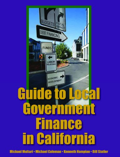 Guide to Local Government FInance in California   2012 edition cover