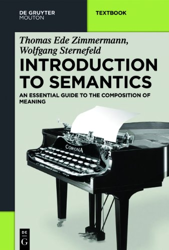 Introduction to Semantics An Essential Guide to the Composition of Meaning  2013 edition cover
