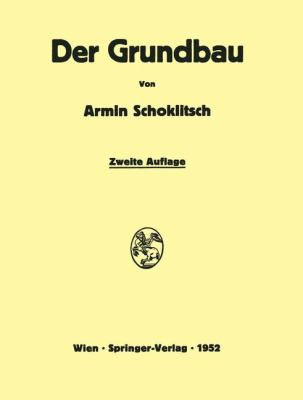 Grundbau  2nd 1952 9783709180006 Front Cover