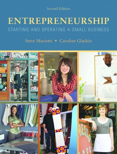Entrepreneurship Starting and Operating a Small Business 2nd 2010 edition cover