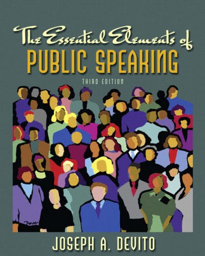 Essential Elements of Public Speaking  3rd 2009 edition cover