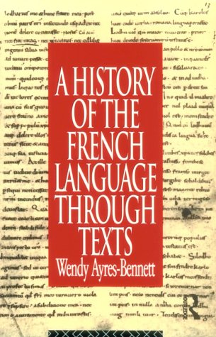 History of the French Language Through Texts   1995 edition cover